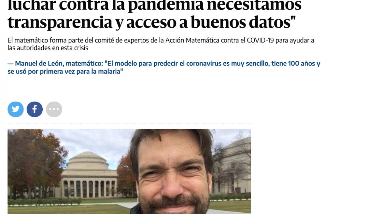 David interviewed by agencia SINC for eldiario.es