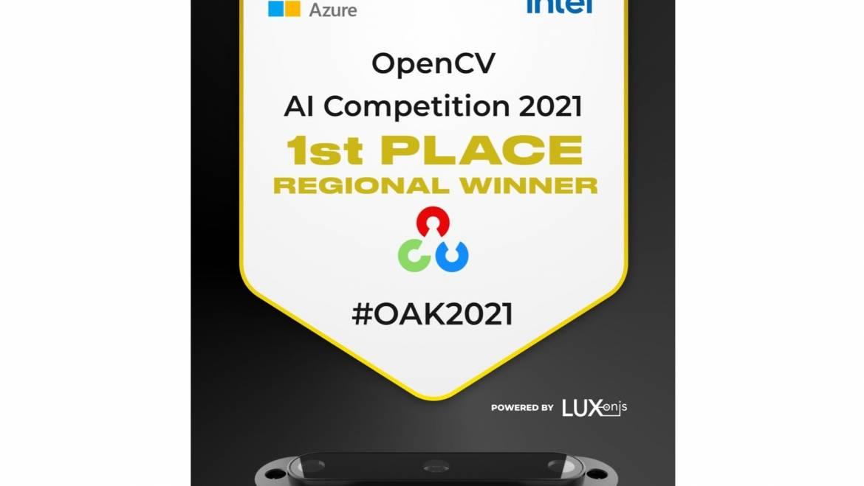 Caleta Team wins the OpenCV AI Competition in the Europe + Russia + Australasia Region!